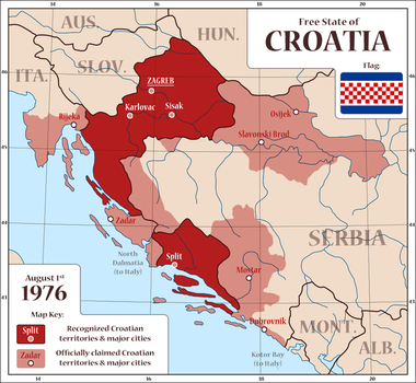 1st Alternate Map of Croatia by Magnificate