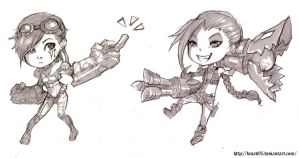 [request for ToiLaGio] Chibi Vi and Jinx by bmad95