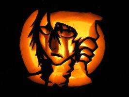 Ulquiorra Pumpkin by Aquapocalypse