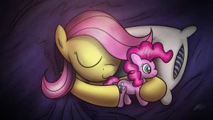 Sweet dreams, Fluttershy by Dori-to