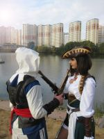 Lady Black and Edward Kenway by NiGHTSgirl666