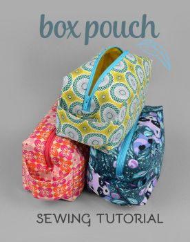 Sewing Tutorial - Zippered Box Pouch by SewDesuNe