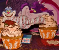 Cheshire Cat Cupcake III by scribbleXcore