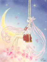 Chibiusa-Swinging by the moon- by MagicalShine