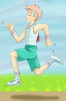 Happily jogging by jackzarts
