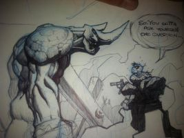 Spidey vs. Rhino by Spoon1004