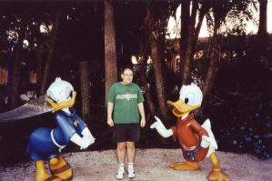Me with Donald and Daisy by MightyMorphinPower4