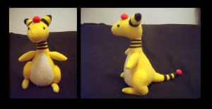 Ampharos Plush by fireflytwinkletoes
