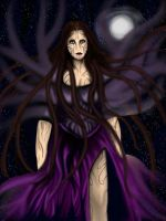 Lena falling into darkness by SerggArt