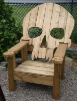 Skull chair by Bokusenshi