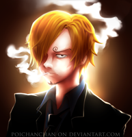 [Kiri]-Black Leg Sanji by Poichanchan