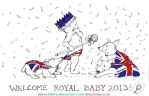 Britain's Royal Birth by sketchditto