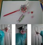 Prototype B: Hair Stick with Origami Kusudama by YamiAijin