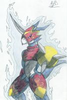 Flamedramon by Hanugumo