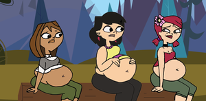 Total Drama Fat camp Zoey, Courtney, Sky by calculon123