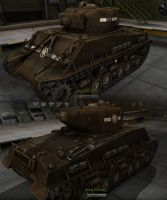 M4A3E8 GDI Medium Tank by Arsaneus