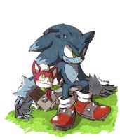 chip and werehog by Hanybe