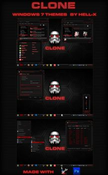 CLONE-RED WINDOWS 7 THEMES BY HELL-X by HELL-X-HELL