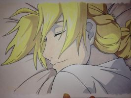 Edward Elric Sleeping by savanahbanana