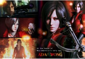 RE6 Ada Wong wallpaper by BlacknessAffection