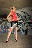 Danca Black Skirt Red Top 01 by malkiss