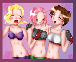 Naruto: Girls night out by bugalug17