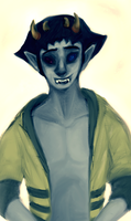 Sollux in unzipped bee hoodie. by JunkUpShowUp