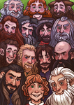 Thirteen Dwarves and a Hobbit by Luminanza