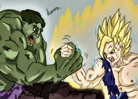 Goku vs hulk? by rodrigoken