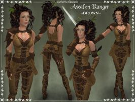 Ascalon Ranger Armor -BROWN- by Elvina-Ewing