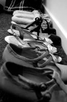 Shoes in a Line by ChappyApple