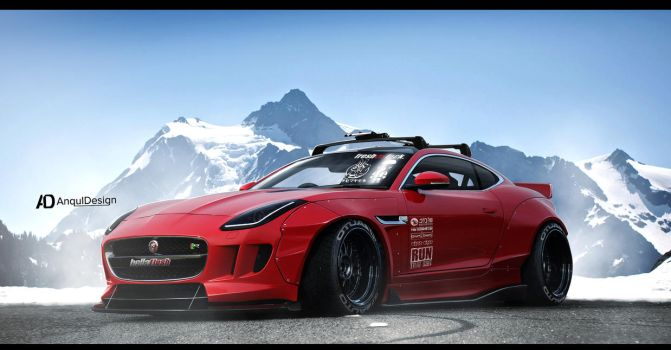 Jaguar F Type Rocket Bunny by aNqUi