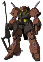MS-110 Gabthley (mobile suit mode) by unoservix