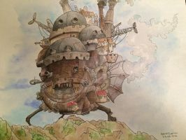 Howl's Moving Castle by spot1the2dog3
