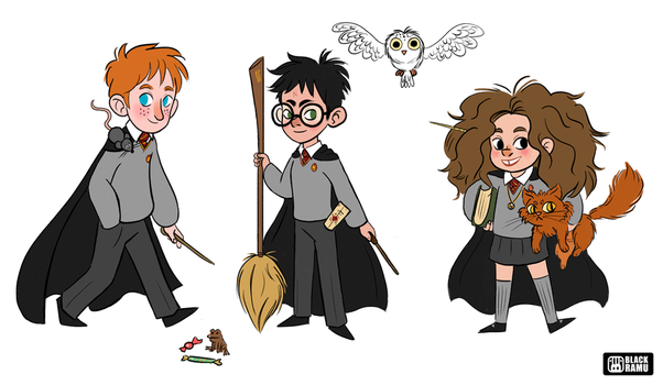 HP trio fan art by BlackRamu