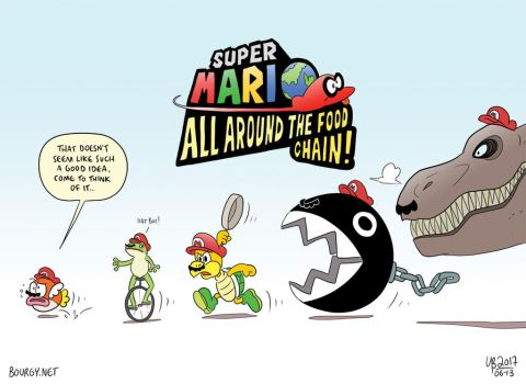 Super Mario: All Around The Food Chain! by TheBourgyman