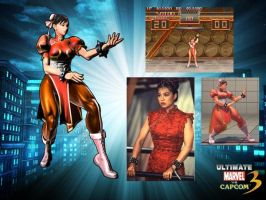 Chun Li Red MVC3UltimateA by ChrisNext