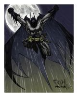 Batman - Gotham Moon by spidermanfan2099