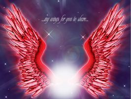 ..my wings for you to share.. by rekka-alexiel