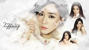 Tiffany White Rabbit Wallpaper by Chocoshim