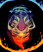 Circus tiger by Selsea012