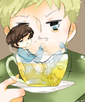 teacup sherlock by kyunyo