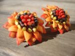 Polymer Clay Sunflower Earrings by Petal Cove by PetalCove
