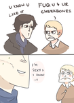 SHERLOCK: DAMN YOUR CHEEKBONES by Randomsplashes