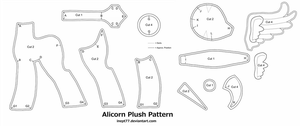 Free Alicorn Plush Pattern by inept77