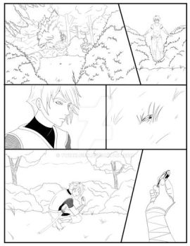 Black Ninja comic page one by TwinkleInk