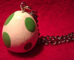 FOR SALE Super Mario Yoshi Egg Necklace Charm by KnickKnackNight