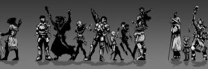 Westmarches Roster BW (revised) by putridCheese