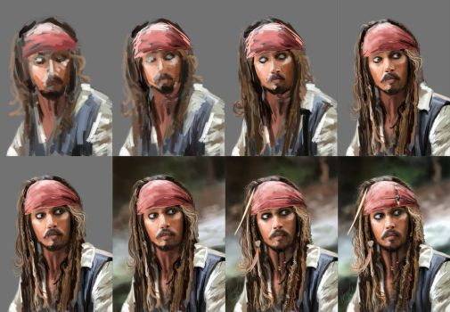 Captain Jack Sparrow - WIP by Mishalion
