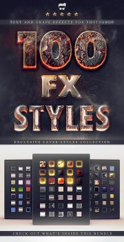100 Layer Styles Bundle - Text Effects Set by Giallo86